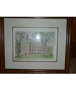 Set of 4 Vintage Framed Sketches Charles Overly  Prints HARVARD   - $93.49