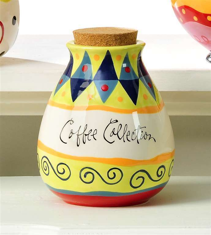 "6.5"" Coffee Collection Money Pot - Joyce Shelton - Ceramic"