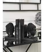 "7.5"" Buddha Bookends Set - Zen Black Polystone NEW - $44.54"