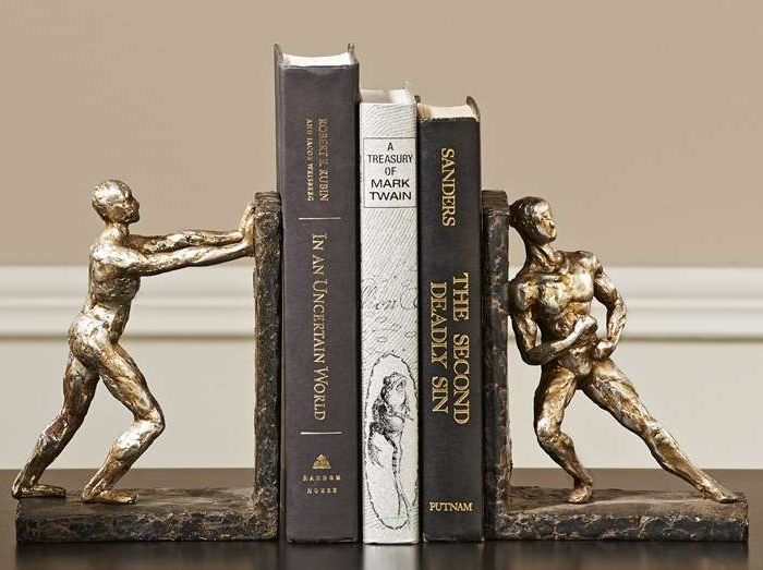 "7"" Athlete Bookends Set - Polystone NEW"
