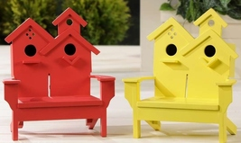 "Adirondack Chair Dual Birdhouse - 2 Separate Birdhouses MDF Wood 7"" x 7"" x 11"""