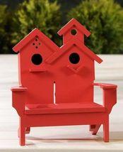 "Adirondack Chair Dual Birdhouse - 2 Separate Birdhouses MDF Wood 7"" x 7"" x 11"" image 2"