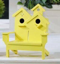 "Adirondack Chair Dual Birdhouse - 2 Separate Birdhouses MDF Wood 7"" x 7"" x 11"" image 3"