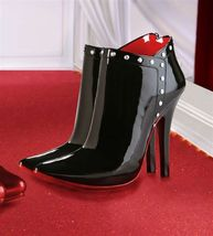 Black Double Stiletto Shoe Wine Bucket Polystone NEW