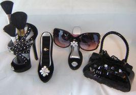 Black Fashion Purse Handbag Money Bank Polyresin image 4