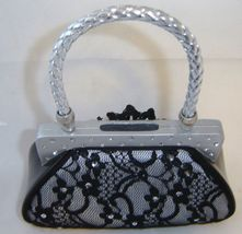 Black Lace Fashion Purse Handbag Money Bank Polyresin image 2
