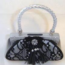 Black Lace Fashion Purse Handbag Money Bank Polyresin image 3