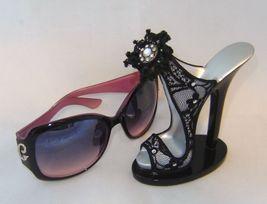 Black Lace Stiletto Shoe Eyeglass Sunglasses Holder  image 2
