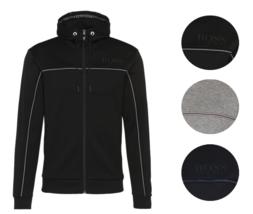 Hugo Boss Men's Premium Zip Up Sport Hoodie Sweatshirt Track Jacket 50324752