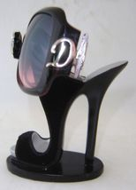 Black Stiletto Shoe Eyeglass Sunglasses Holder NEW