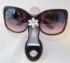 Sexy Black Velvet Stiletto Shoe Eyeglass Sunglasses Holder Fashion Women Gift image 2
