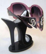 Sexy Black Velvet Stiletto Shoe Eyeglass Sunglasses Holder Fashion Women Gift image 3