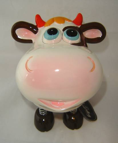 Brown Cow Animated Character Money Bank NEW