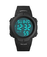 CakCity Digital Watch for Mens Waterproof 100M Sports Watch with Alarm S... - $13.51