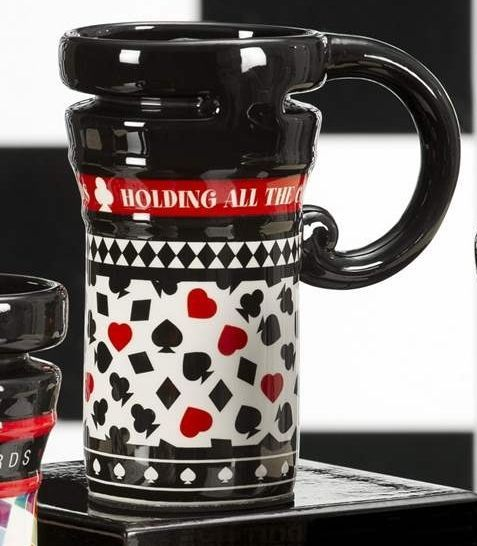 Casino Gambling Cards - Red & Black Ceramic Travel Mug 14oz  #486798