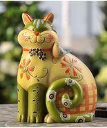 "Cat Polystone Fiqurine Decor 7.6""high - $29.69"