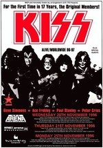 KISS Band 96 - 97 ALIVE / Worldwide Tour Stand-Up Display - Reunion Rock... - $15.99