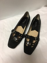Michael Kors Black Mary Jane Black Leather Maryjane Flats Size 7.5 - $16.82