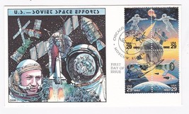 COOPERATION IN SPACE US-RUSSIA US FIRST DAY OF ISSUE 1993 COLLINS HAND P... - $17.74