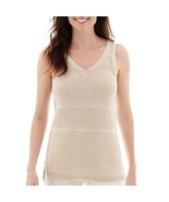 Liz Claiborne V-Neck Sweater Tank Top Size PXL New Msrp $45.00 - $14.99
