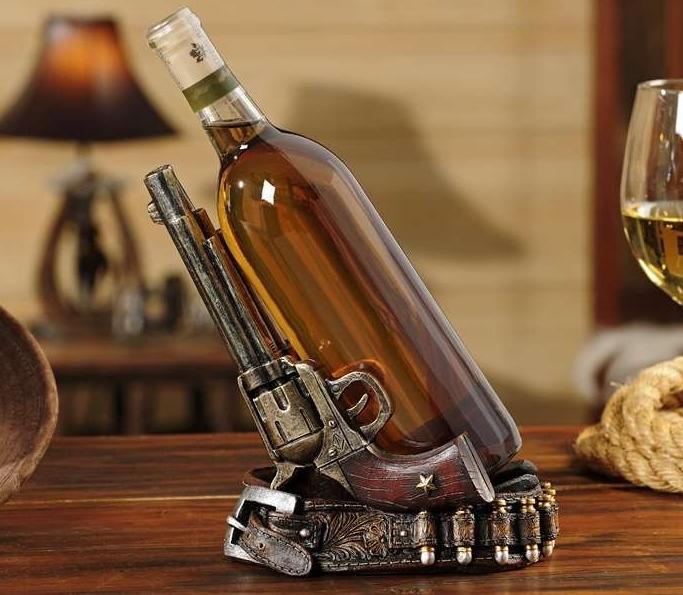 Double Pistol Design Wine Bottle Holder - Country - $44.54
