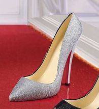 Festive Glitter Stiletto Shoe Wine Bottle Holder Polystone image 2