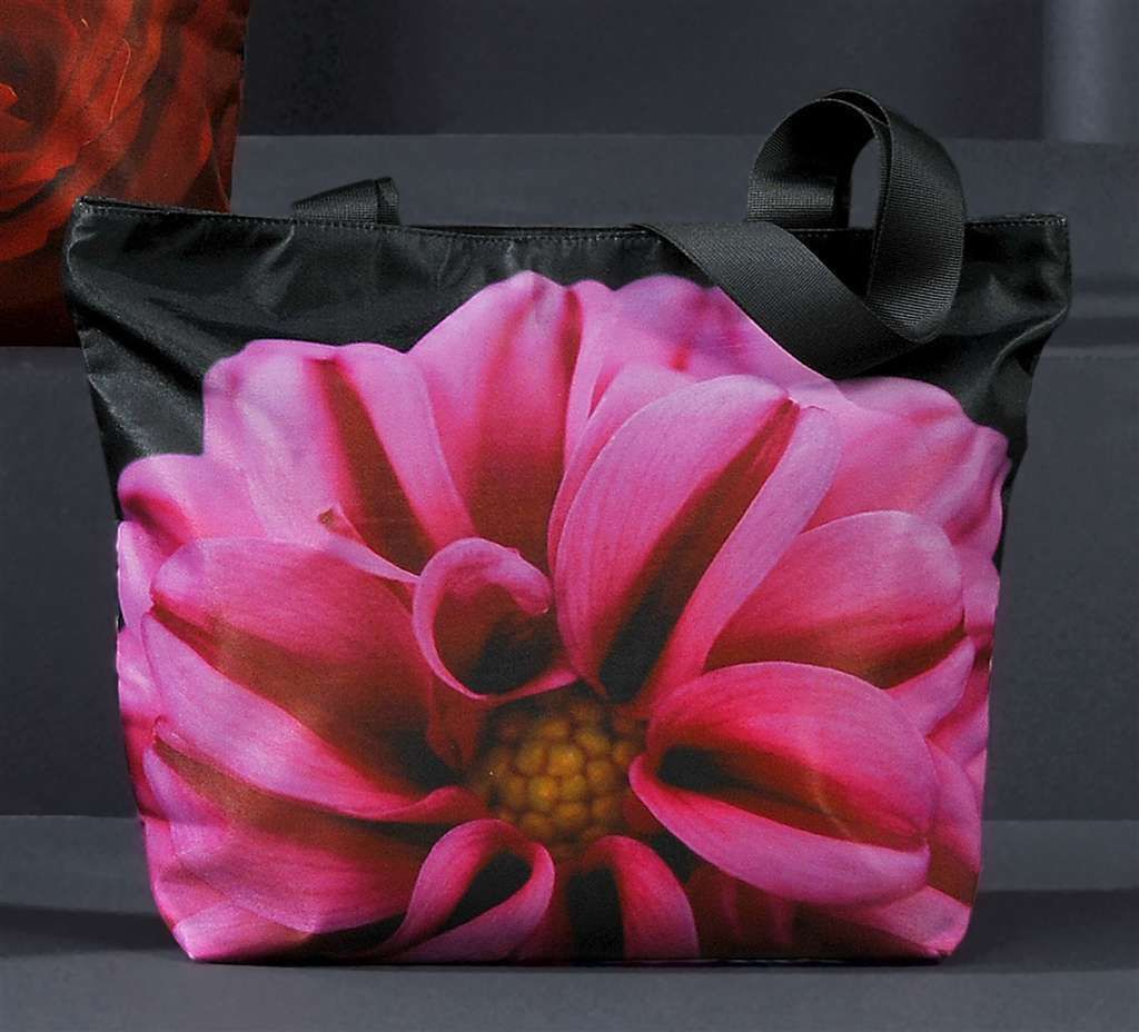 "Flower Shoulder Tote Bag Polyester 17.5"" x13.3"" with 11"" Strap"