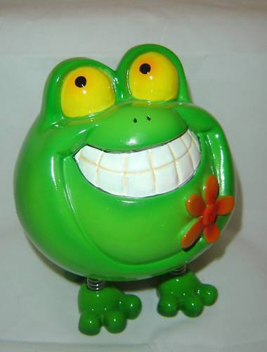 Green Frog Animated Character Money Bank NEW