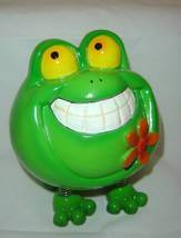 Green Frog Animated Character Money Bank