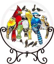 "Joan Baker Designs Birds On a Wire Suncatcher Table top decor 10"" x 11.5"""