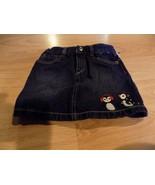 Girl's Size 5 Gymboree Winter Penguin Denim Blue Jean Mini Skirt EUC - $14.00