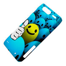 Thumb Up Smiley Smile Emoticon Dot Ball Motorola Droid Razr XT912 Hardsh... - $13.99