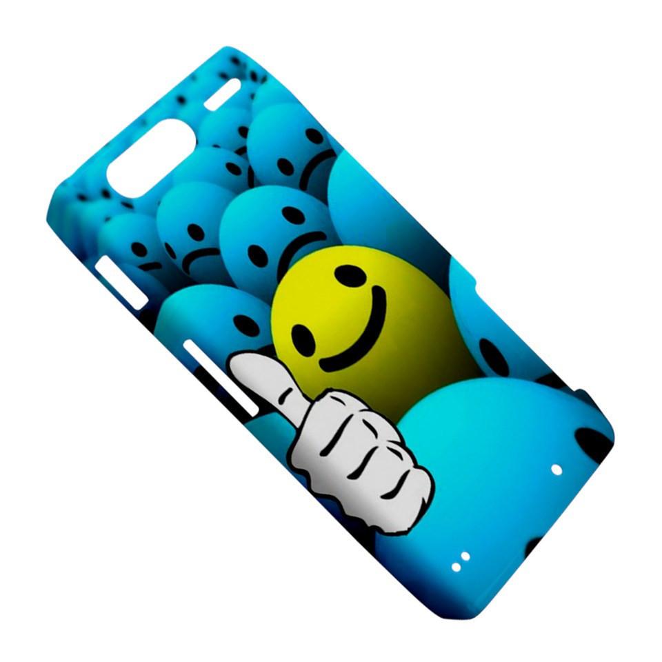 Thumb Up Smiley Smile Emoticon Dot Ball Motorola Droid Razr XT912 Hardshell Case
