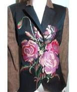 Debbie Shuchat Blazer Embroidered Wool Jacket Size 12 - $89.95