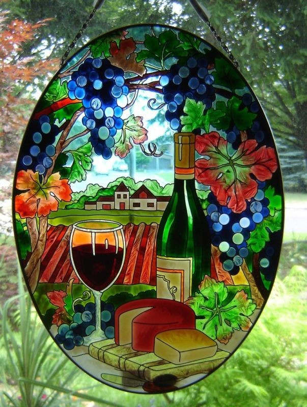 "Joan Baker Wine Country Art Panel Oval 9.3"" x 12.8"""