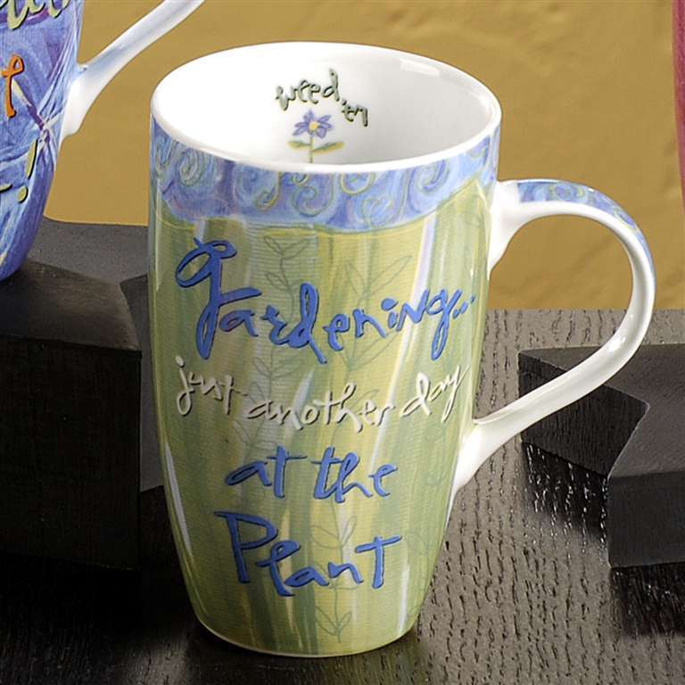 "Joyce Shelton ""Just a Job Ceramic Mug 13oz Gardener"