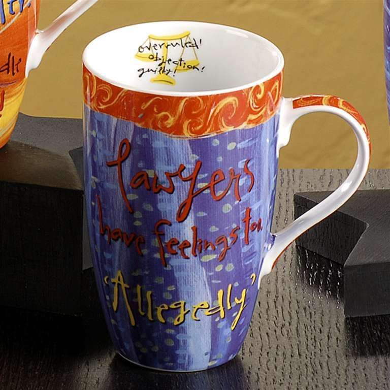 "Joyce Shelton ""Just a Job"" Ceramic Mug 13oz  Lawyer"
