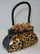 Leopard Look Purse Handbag Money Bank Polyresin image 2