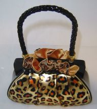 Leopard Look Purse Handbag Money Bank Polyresin