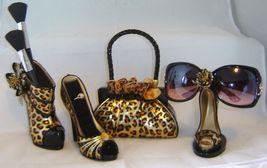 Leopard Stiletto Shoe Cosmetic Brush or Pen Holder  image 3