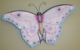 Lilac Butterfly Polystone Wall Plaque image 2