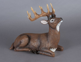 "Majestic Looking 12"" Laying Brown Deer with Antlers Figurine NEW - $32.36"