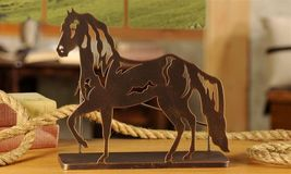 Metal Horse Wine Bottle Holder Western Look - $39.59