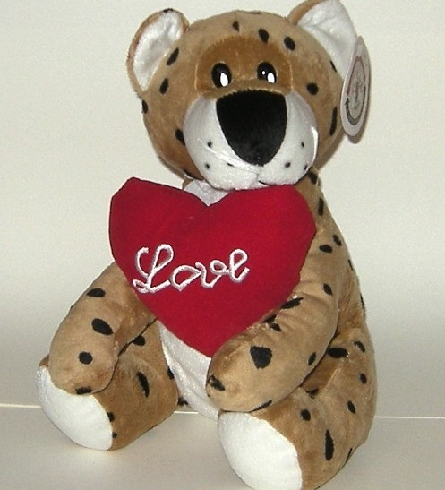 1/2 Price! ReMona Plush Leopard Cat Love Heart Valentine NWT