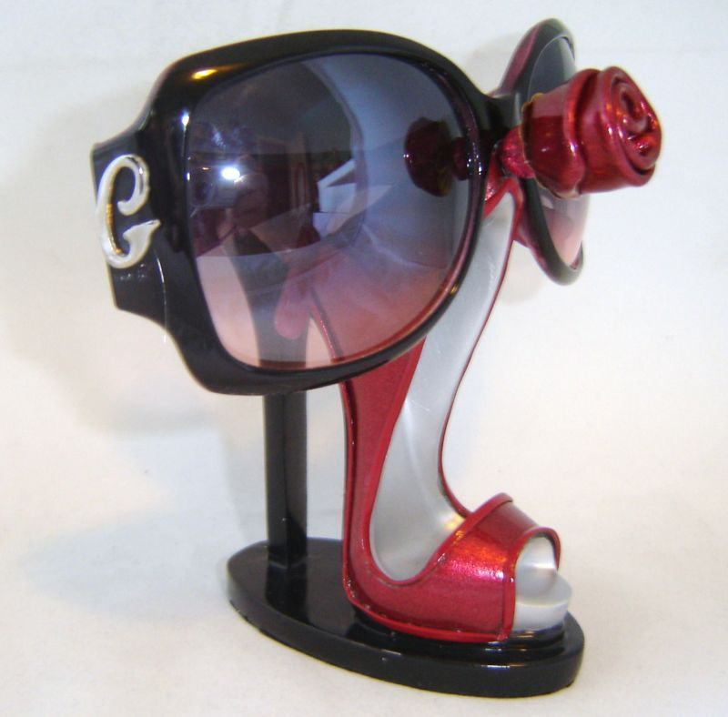 Red Stilleto Shoe Eyeglasses Sunglasses Holder