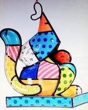 "Romero Britto 10.5"" Hanging Cat Birdhouse Polyresin #331612 image 2"