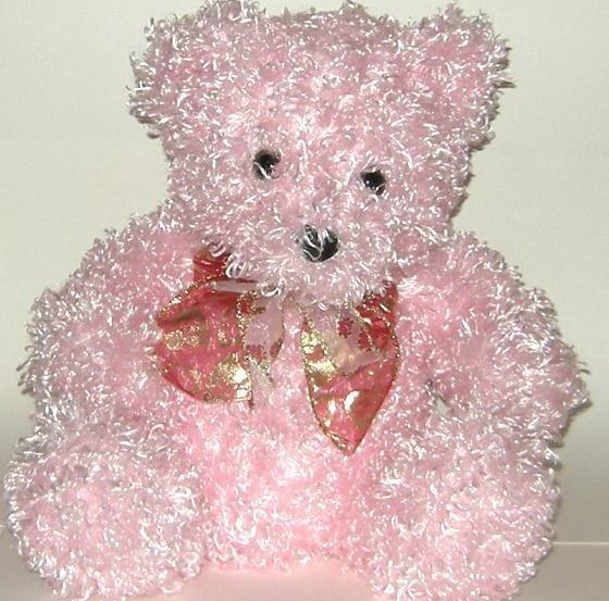 1/2 Price! Kids of America Curly Chenille Pink Plush Bear NWOT