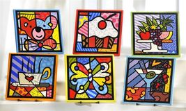 One Romero Britto Ceramic Kitchenware Trivet -  Choose One NEW