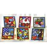 Romero Britto Ceramic Kitchenware Trivet or Wall Decor 6 Styles to Choos... - $17.58