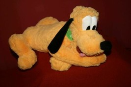 Disney Parks Authentic Original Mickey Mouse Pluto Fluffy 15' inch Plush... - $13.94